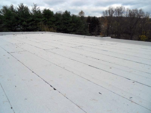 Granular surfaced modified roof system.